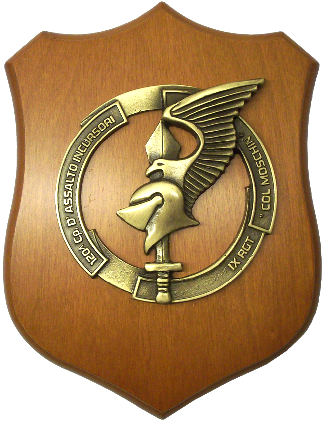"Crest 120^ Cp. D'Assalto Incursori – IX Rgt. ""Col Moschin"""