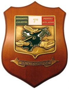 Crest 7° Trentino Alto Adige Rgt. Carabinieri